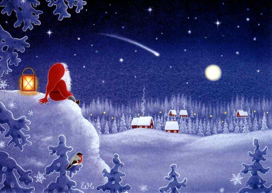 Открытки рождество волшебство рождества
